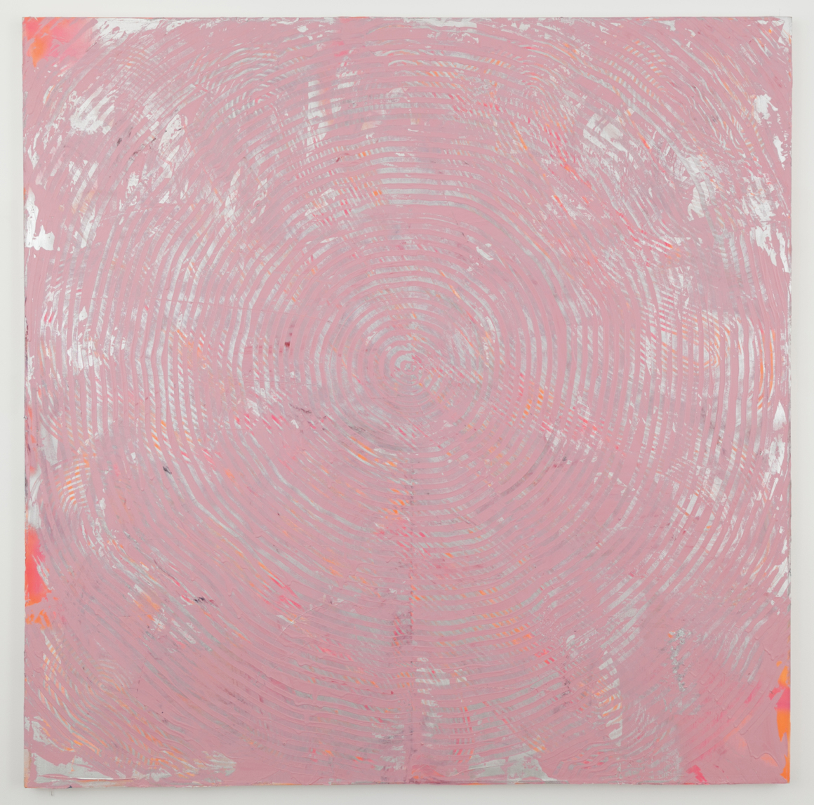<p><em>Pink and Silver</em><span class='media'>acrylic and spray paint on canvas</span>72 x 72 in  (182.9 x 182.9 cm)<br>2014<br><a class='inquire' href='mailto:info@gildargallery.com?subject=Artwork Inquiry ABAT0006&body=I am interested in finding out more about Pink and Silver by Adam Bateman'>Inquire</a></p>