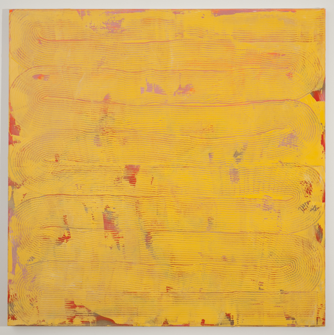"<p><span class=""name"">Adam Bateman</span><br><em>Yellow</em><span class='media'>acrylic and spray paint on canvas</span>72 x 72in<br>2014<br><a class='inquire' href='mailto:info@gildargallery.com?subject=Artwork Inquiry ABAT0008&body=I am interested in finding out more about Yellow by Adam Bateman'>Inquire</a></p>"