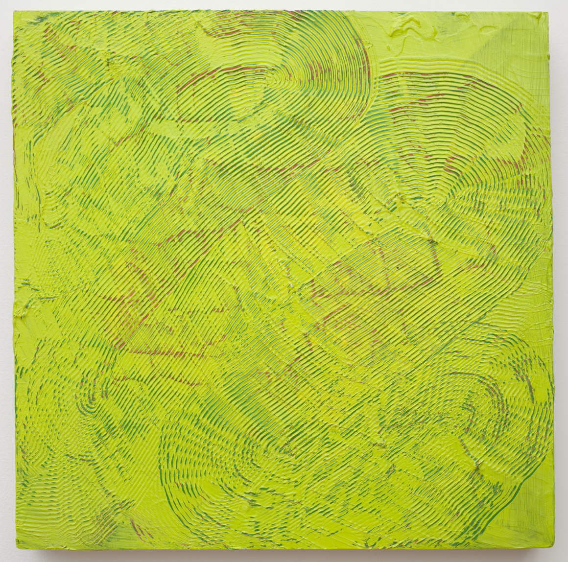 "<p><span class=""name"">Adam Bateman</span><br><em>Green</em><span class='media'>acrylic and spray paint on panel</span>15.5 x 15.5in<br>2014<br></p>"