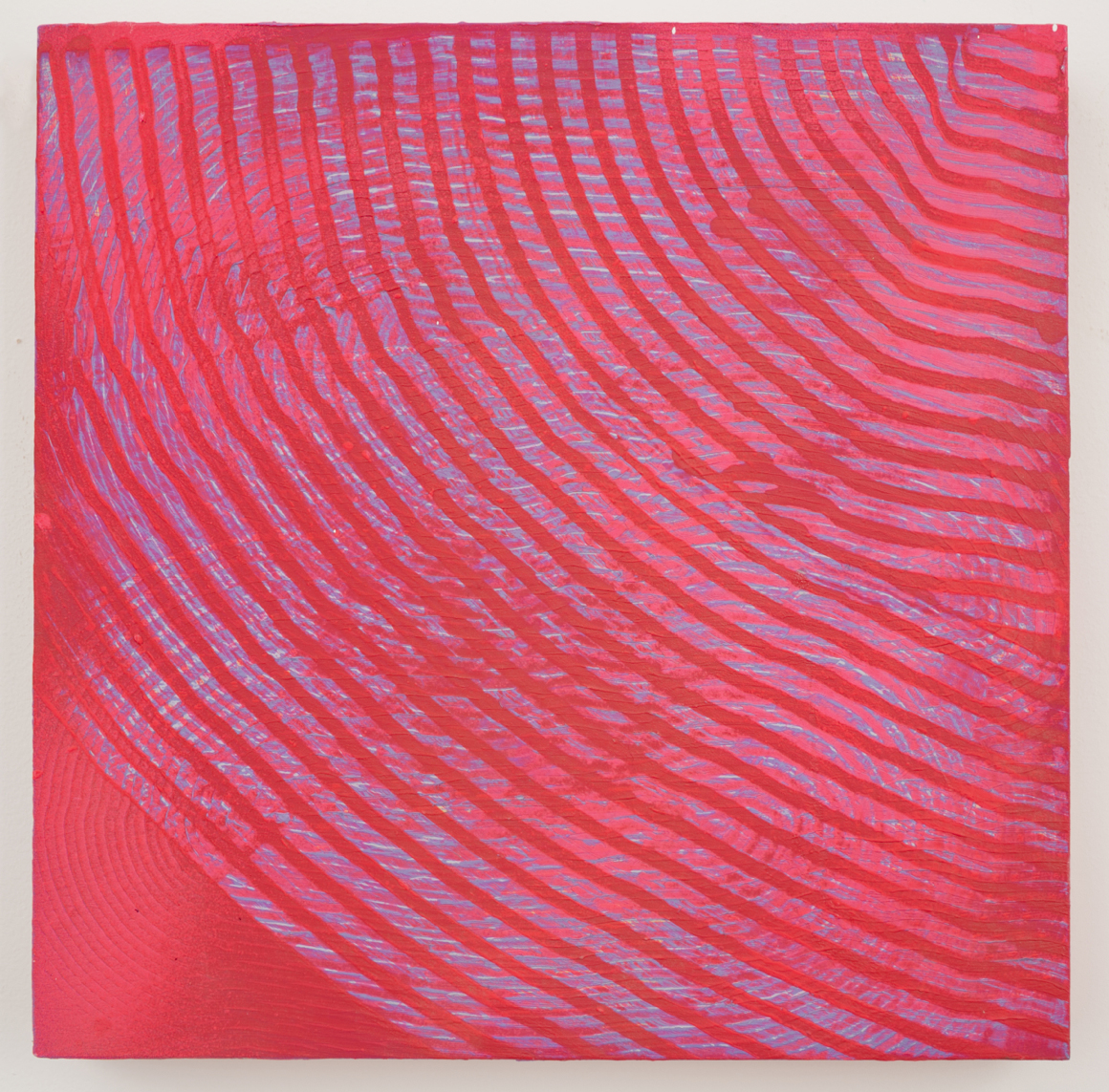"<p><span class=""name"">Adam Bateman</span><br><em>Pink</em><span class='media'>acrylic and spray paint on panel</span>13 x 13in<br>2014<br></p>"