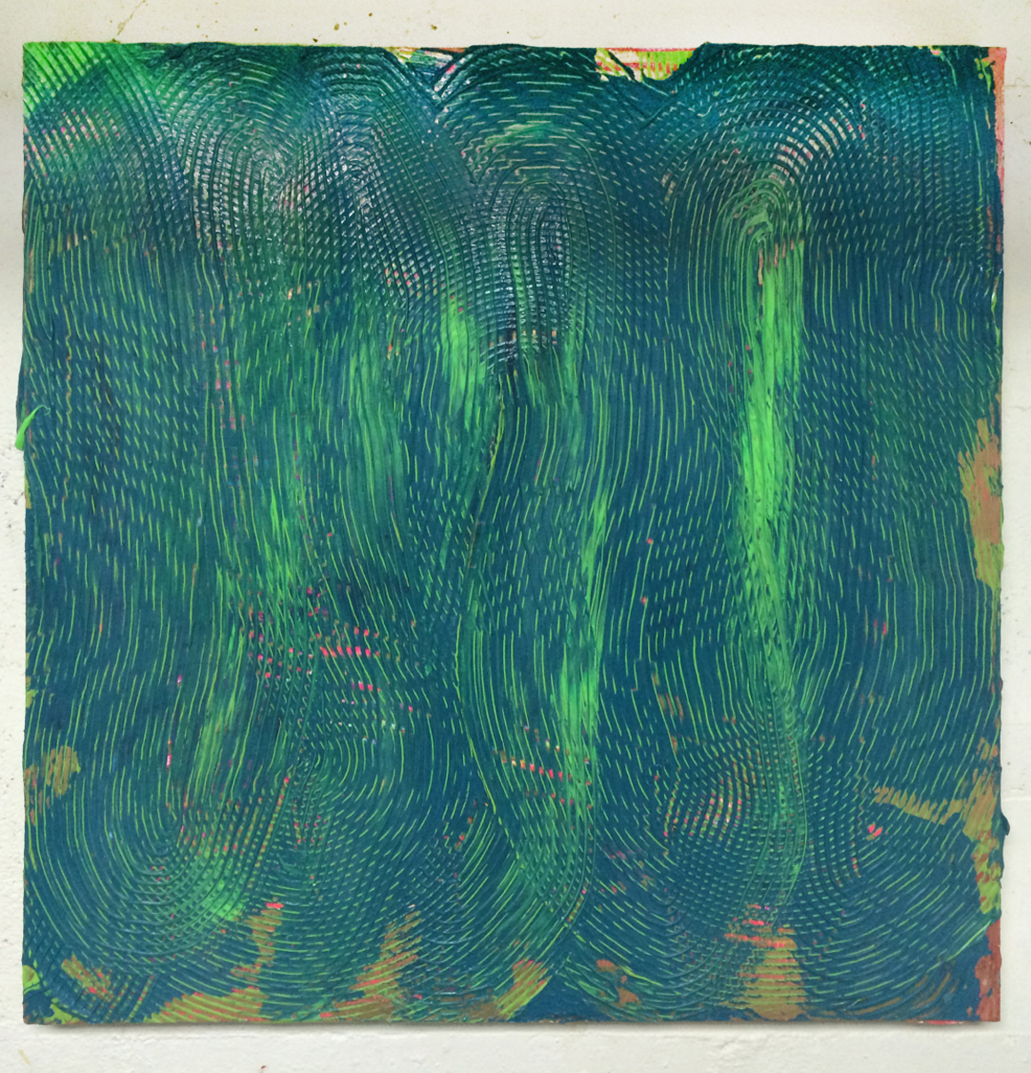 <p><em>Blue and Green</em><span class='media'>acrylic and spray paint on panel</span>24 x 24 in  (61 x 61 cm)<br>2014<br><a class='inquire' href='mailto:info@gildargallery.com?subject=Artwork Inquiry ABAT0017&body=I am interested in finding out more about Blue and Green by Adam Bateman'>Inquire</a></p>
