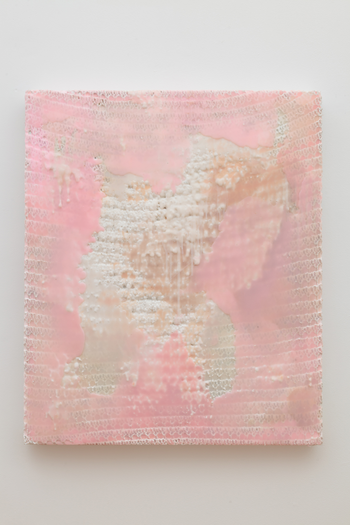 "<p><span class=""name"">Amber Cobb</span><br><em>Afterward</em><span class='media'>Blanket, acrylic, silicone</span>42.5 x 35 in (108 x 88.9 cm)<br>2015<br><a class='inquire' href='mailto:info@gildargallery.com?subject=Artwork Inquiry ACOB0047&body=I am interested in finding out more about Afterward by Amber Cobb'>Inquire</a></p>"