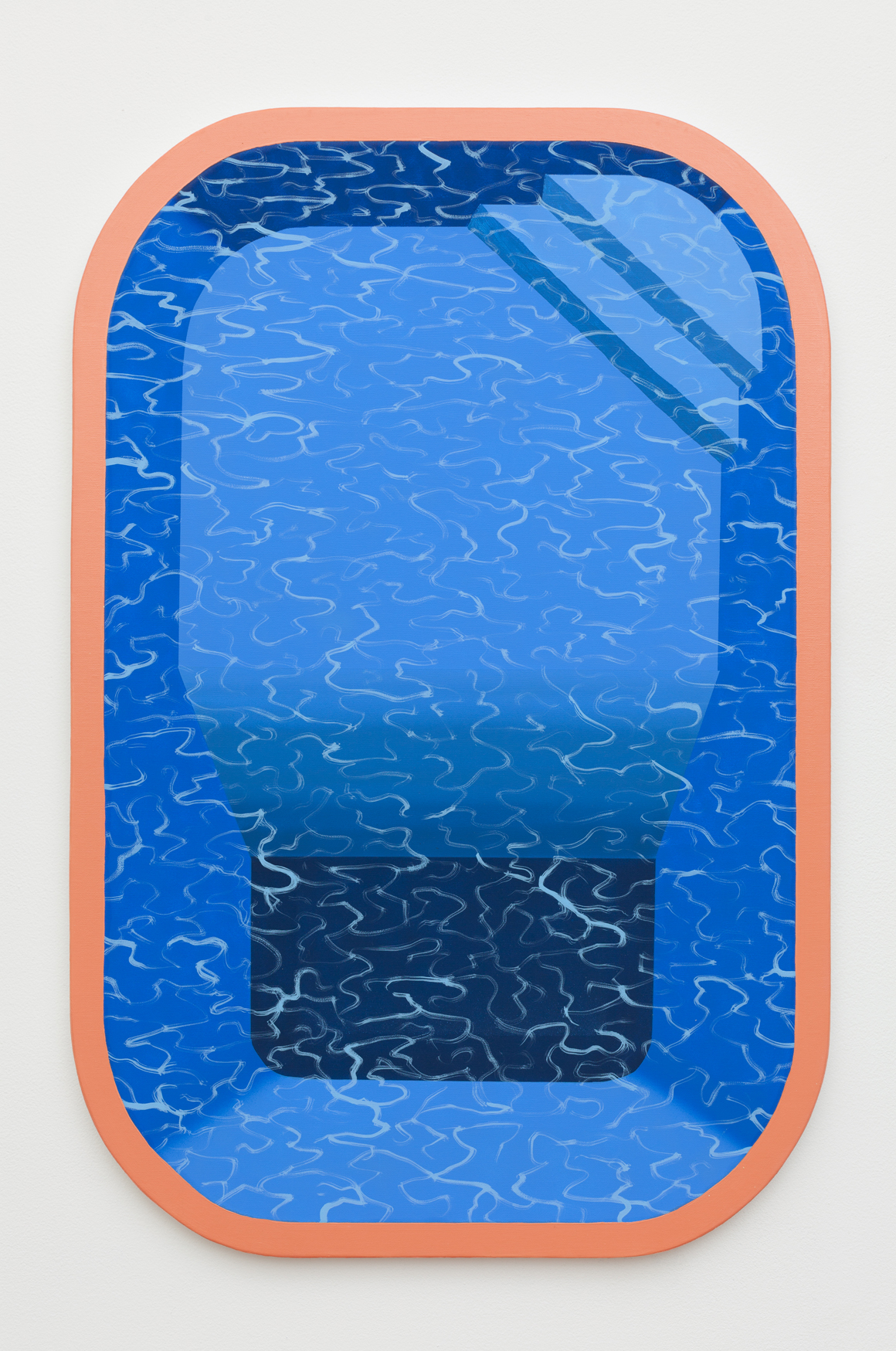 "<p><span class=""name"">Adam Eddy</span><br><em>Pool With Orange Border</em><span class='media'>Vinyl and oil on canvas</span>36 x 24 in  (91.4 x 61 cm)<br>2017<br><a class='inquire' href='mailto:info@gildargallery.com?subject=Artwork Inquiry AEDD0001&body=I am interested in finding out more about Pool With Orange Border by Adam Eddy'>Inquire</a></p>"