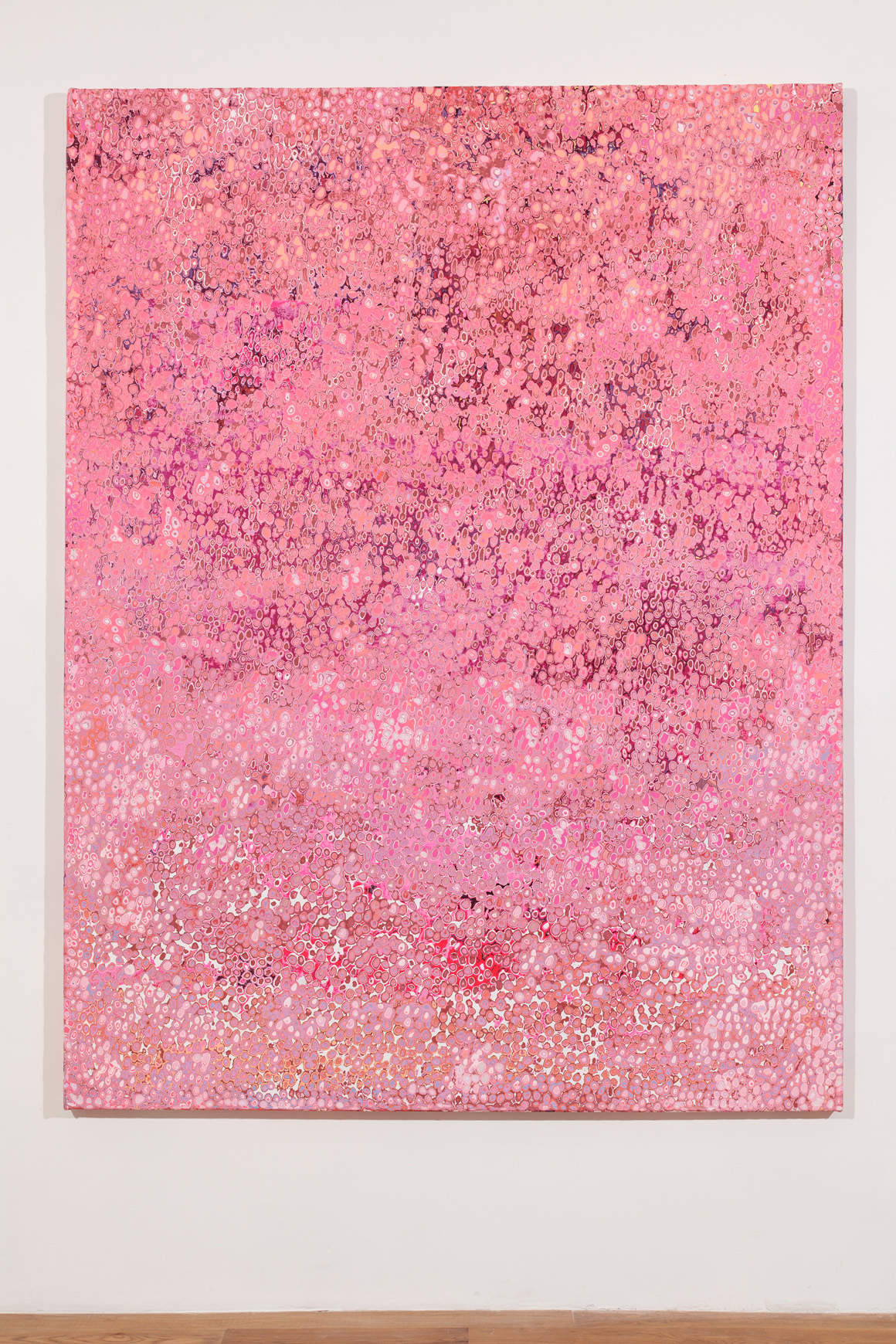 "<p><span class=""name"">Andrew Jensdotter</span><br><em>Millennial Pink</em><span class='media'>Latex on canvas</span>83.4 x 63.3 in (211.8 x 160.7 cm)<br>2017<br></p>"