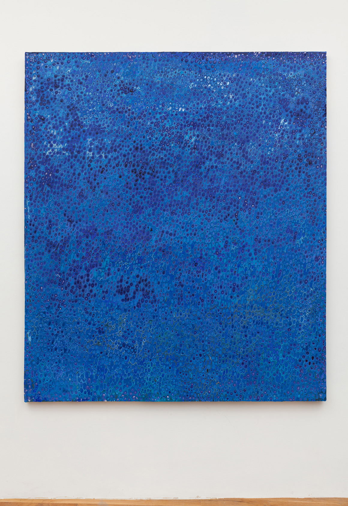 <p><em>Blue 92</em><span class='media'>Carved latex on canvas</span>80 x 68 in (203.2 x 172.7 cm)<br>2018<br></p>