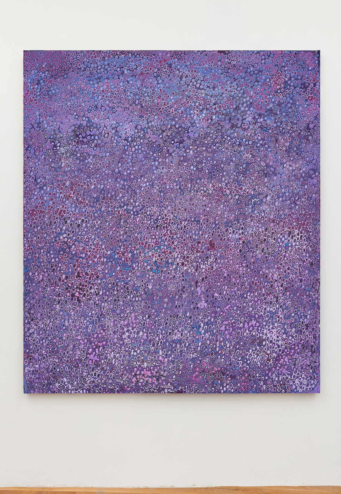 <p><em>Purple 101</em><span class='media'>Carved latex on canvas</span>80 x 68 in (203.2 x 172.7 cm)<br>2018<br></p>