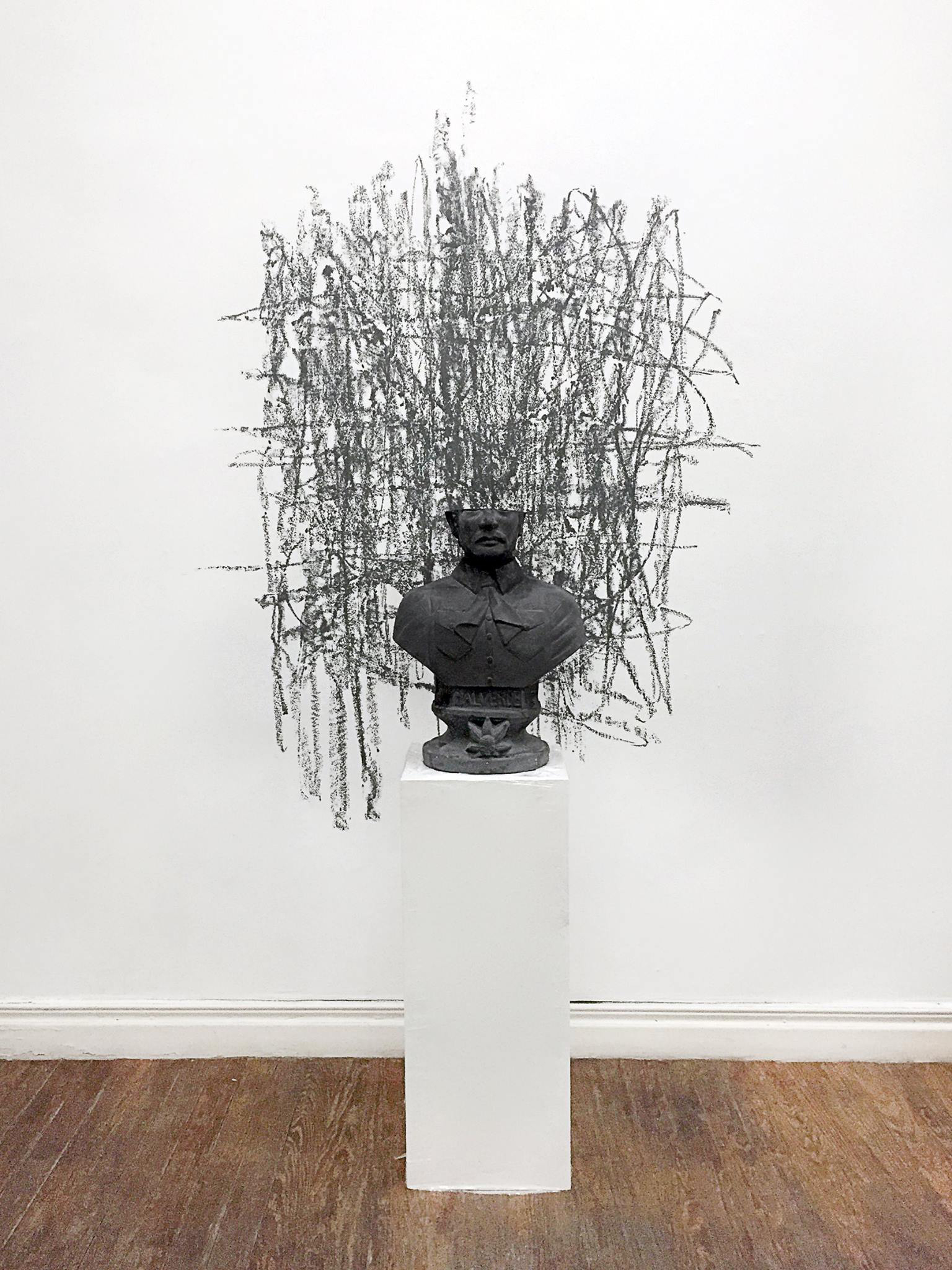 "<p><span class=""name"">Dmitri Obergfell</span><br><em>Statues Also Die (Mauricio)</em><span class='media'>Plaster and graphite</span>15 x 24 x 8in (Dimensions Variable with Drawing)<br>15 x 24 x 8in (Dimensions Variable with Drawing) (framed)<br>Edition of Edition of 3<br>2015<br><a class='inquire' href='mailto:info@gildargallery.com?subject=Artwork Inquiry DOBE0019&body=I am interested in finding out more about Statues Also Die (Mauricio) by Dmitri Obergfell'>Inquire</a></p>"