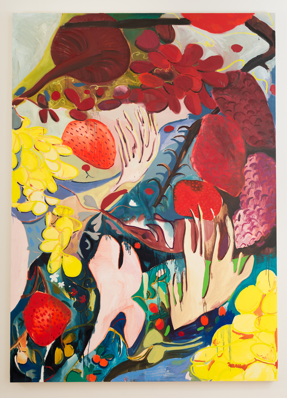 "<p><span class=""name"">Jasmine Little</span><br><em>Fruit Still Life</em>92 x 66 in (233.7 x 167.6 cm)<br>2018<br><a class='inquire' href='mailto:info@gildargallery.com?subject=Artwork Inquiry JLIT0008&body=I am interested in finding out more about Fruit Still Life by Jasmine Little'>Inquire</a></p>"