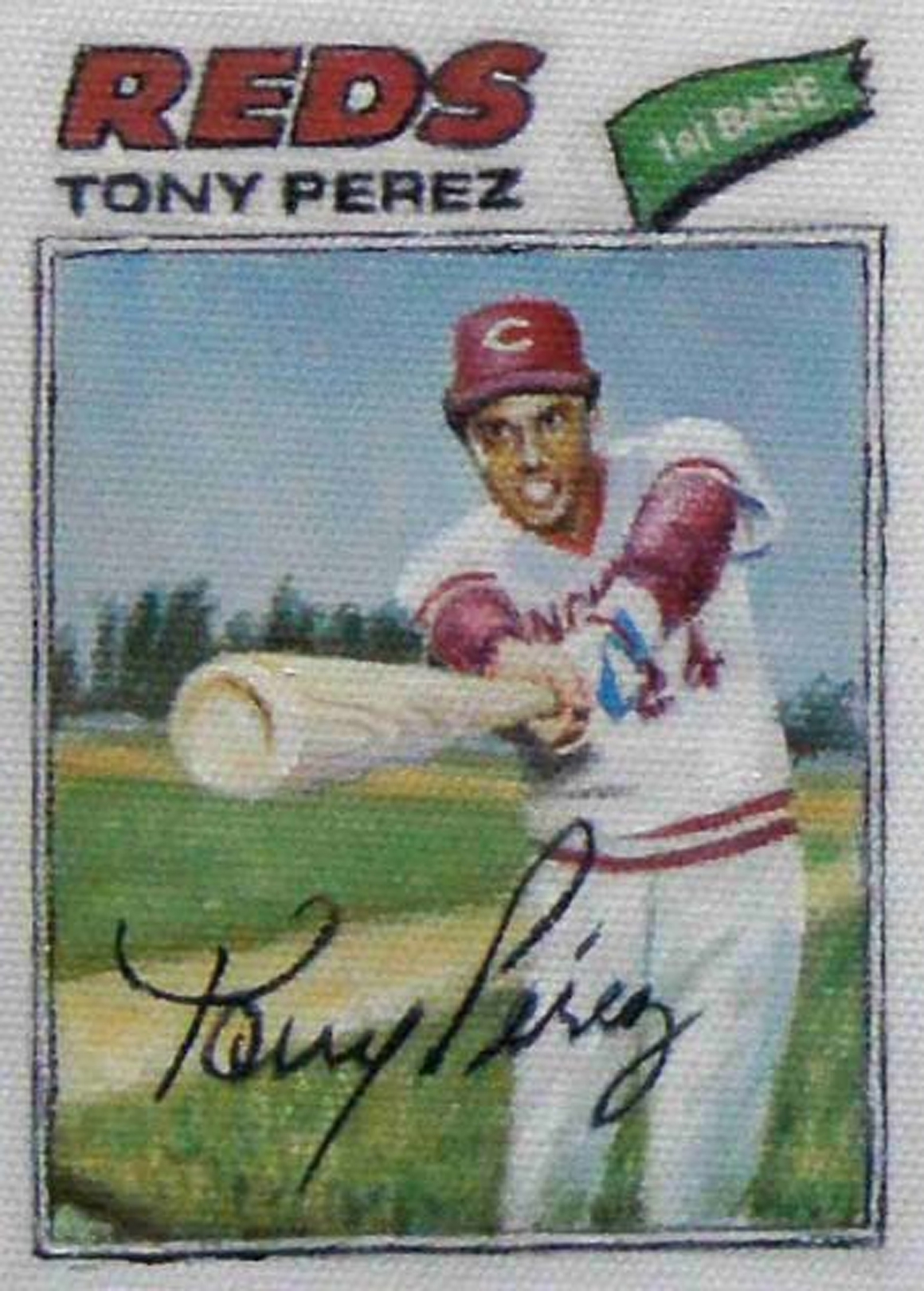 "<p><span class=""name"">Jim Thompson</span><br><em>Tony Perez (1977 series)</em><span class='media'>oil on canvas</span>4 x 3 in (10.2 x 7.6 cm)<br>2012<br></p>"