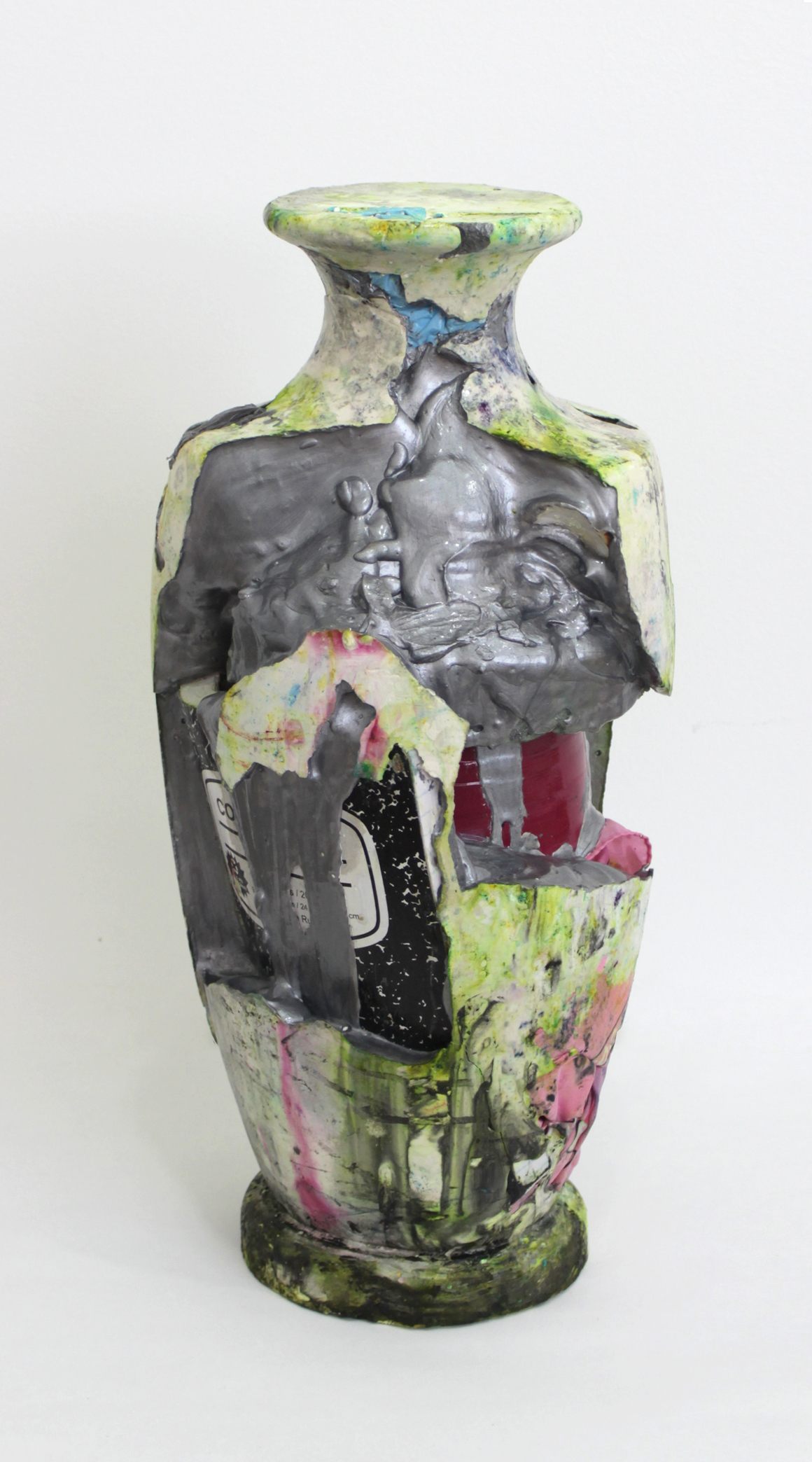 "<p><span class=""name"">Lindsay Lawson</span><br><em>Basico</em><span class='media'>Vase, notebook, bandana, glass, seashells, floral, foam, nitrile glove, plaster, pigment, varnish</span>20 x 8 x 8in<br>2016<br><a class='inquire' href='mailto:info@gildargallery.com?subject=Artwork Inquiry LLAW0001&body=I am interested in finding out more about Basico by Lindsay Lawson'>Inquire</a></p>"