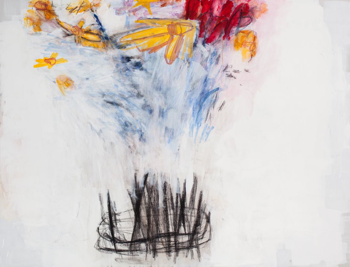 <p><em>Small Bequest (Daffodils and Tulips)</em><span class='media'>Acrylic, pastel and graphite on acrylic panel</span>60 x 78 in  (152.4 x 198.1 cm)<br>2015<br></p>