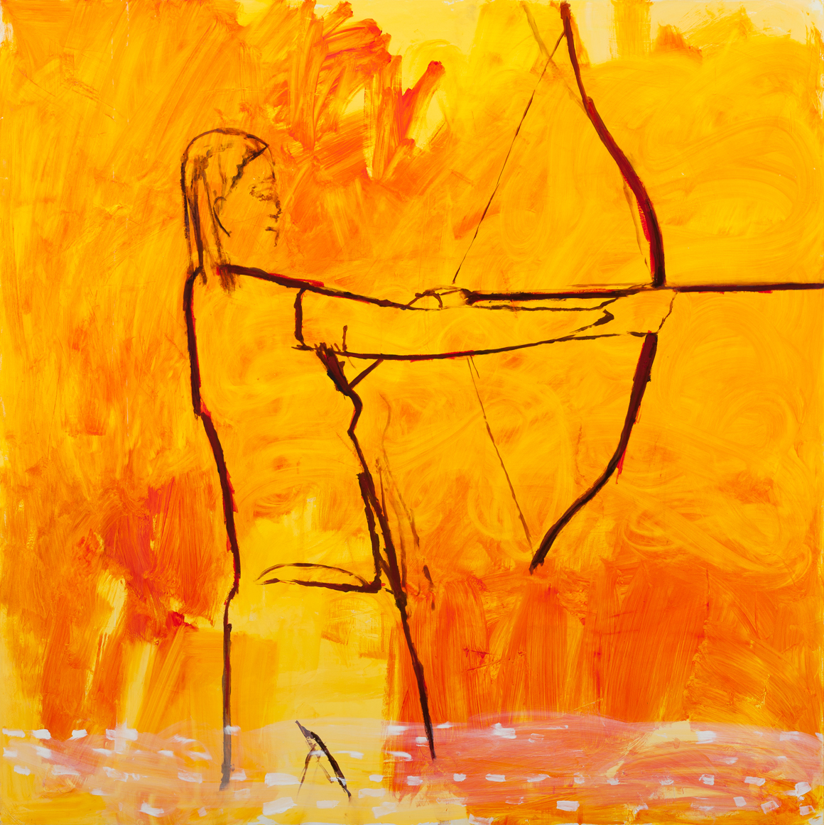 "<p><span class=""name"">William Stockman</span><br><em>Brave Archer 2</em>60 x 60 in (152.4 x 152.4 cm)<br>2017<br><a class='inquire' href='mailto:info@gildargallery.com?subject=Artwork Inquiry WSTO0077&body=I am interested in finding out more about Brave Archer 2 by William Stockman'>Inquire</a></p>"