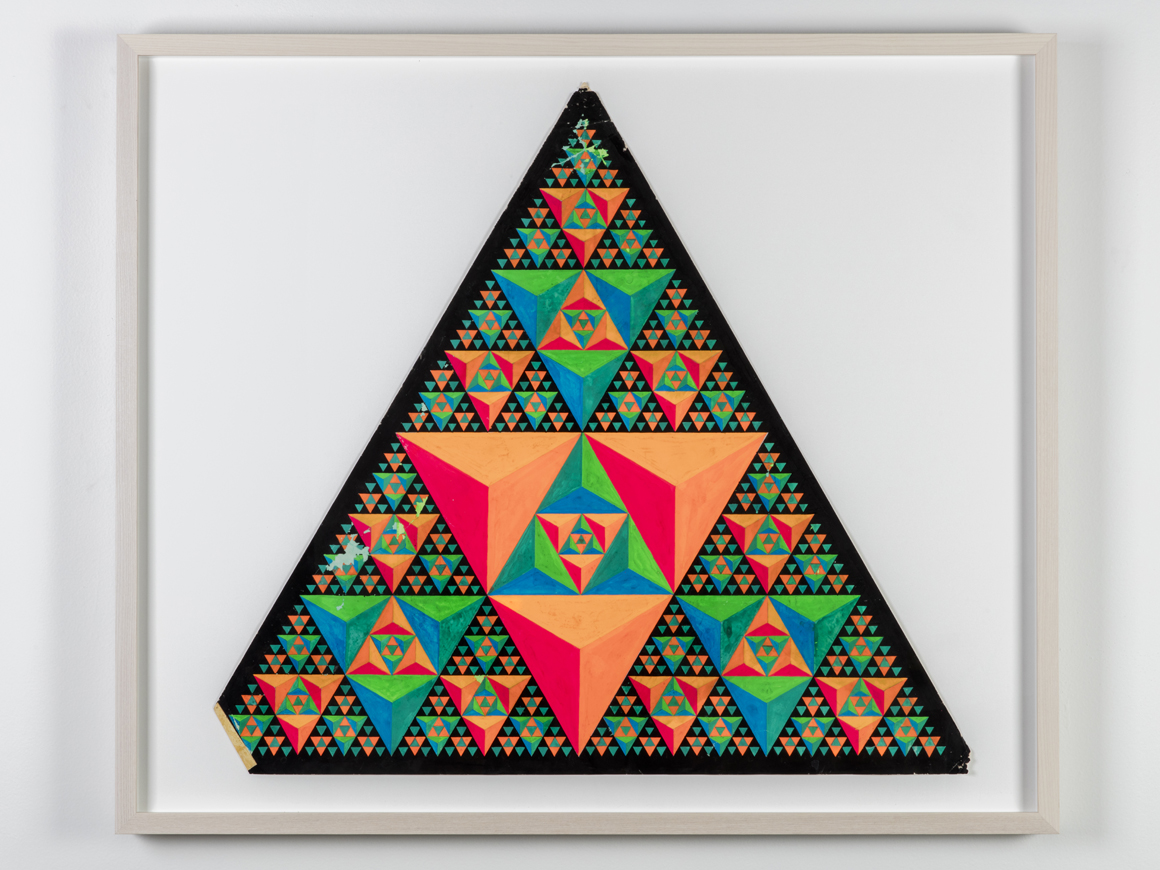 <p><em>Triad</em><span class='media'>Dayglo on paper</span>22.75 x 22.5 in (57.8 x 57.2 cm)<br>28.25 x 33 in (71.8 x 83.8 cm) (framed)<br>0.196668<br><a class='inquire' href='mailto:info@gildargallery.com?subject=Artwork Inquiry CRIC0033&body=I am interested in finding out more about Triad by Clark Richert'>Inquire</a></p>