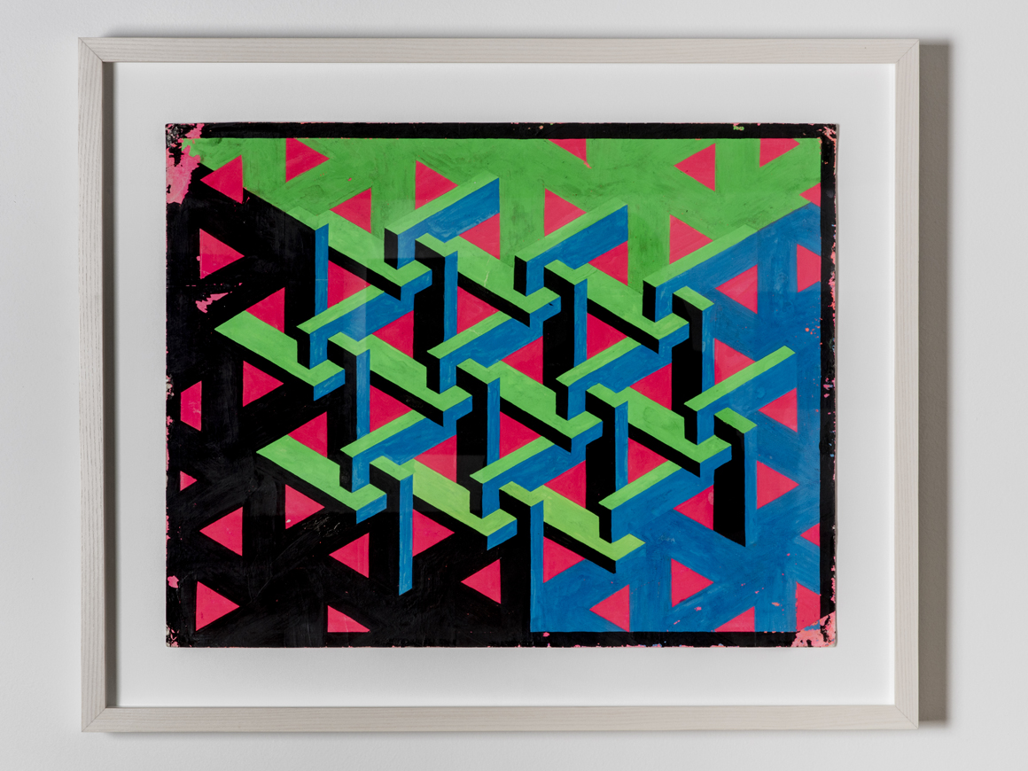 <p><em>Let There Be A Firmament</em><span class='media'>Dayglo on paper</span>16.4 x 16 in (41.6 x 53.3 cm)<br>22 x 26 in (55.9 x 66 cm) (framed)<br>0.196668<br><a class='inquire' href='mailto:info@gildargallery.com?subject=Artwork Inquiry CRIC0034&body=I am interested in finding out more about Let There Be A Firmament by Clark Richert'>Inquire</a></p>
