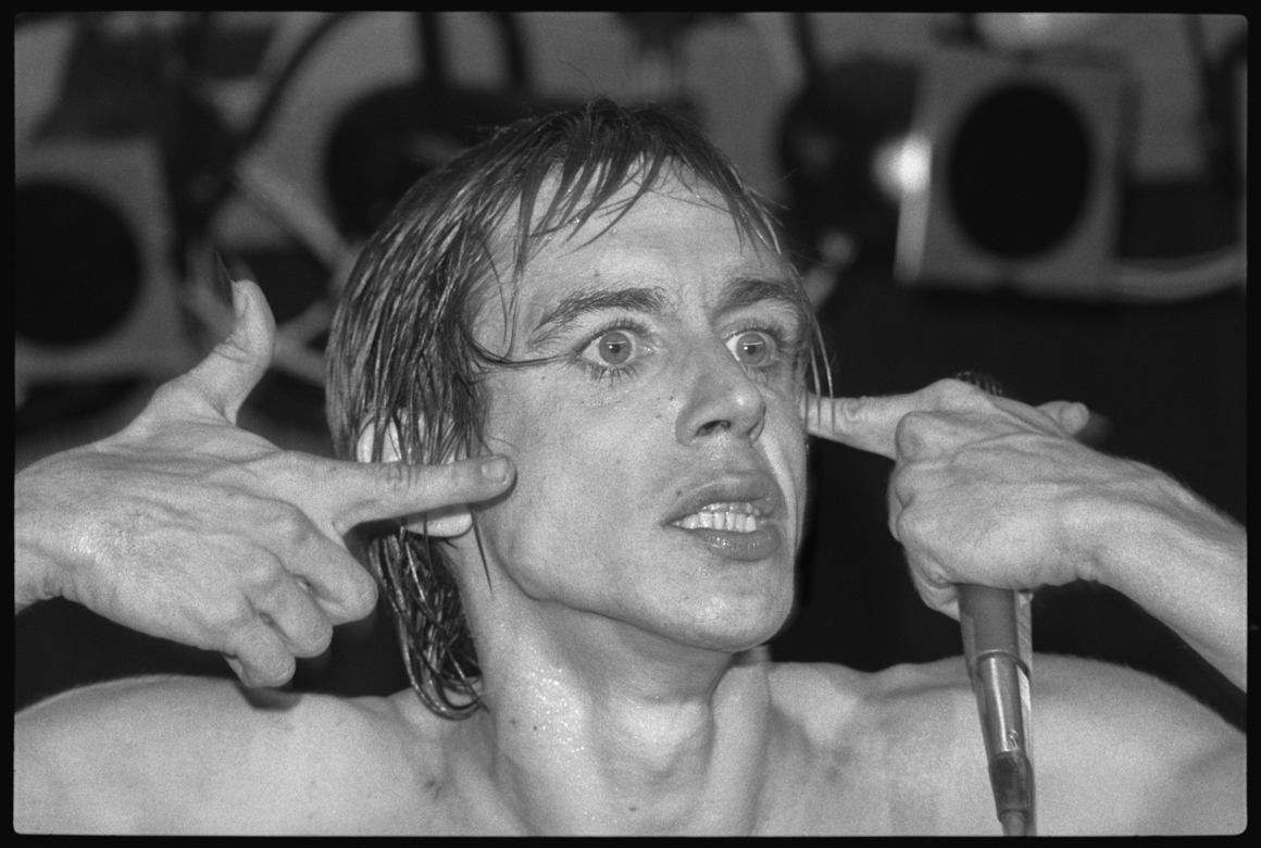 """<p><span class=""""name"""">Richard Peterson</span><br><em>Iggy Pop 2, 1978</em><span class='media'>pigment ink archival print</span>17 x 22 in (43.2 x 55.9 cm)<br>Edition of Edition of Edition of 11<br>1978<br></p>"""