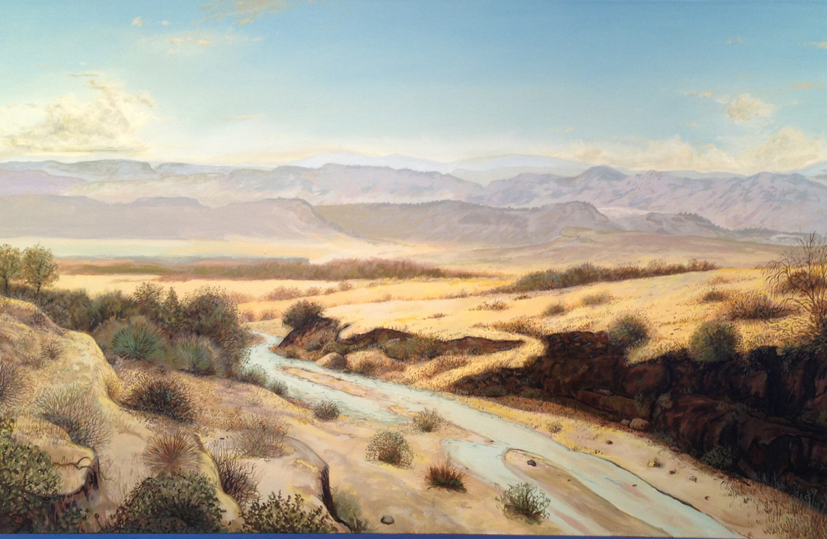 """<p><span class=""""name"""">Sandow Birk</span><br><em>ADX Florence (United States Penitentiary, Administrative Maximum Facility) - Florence, Colorado</em><span class='media'>oil and acrylic on canvas</span>31 x 50 in (78.7 x 127 cm)<br>2014<br></p>"""